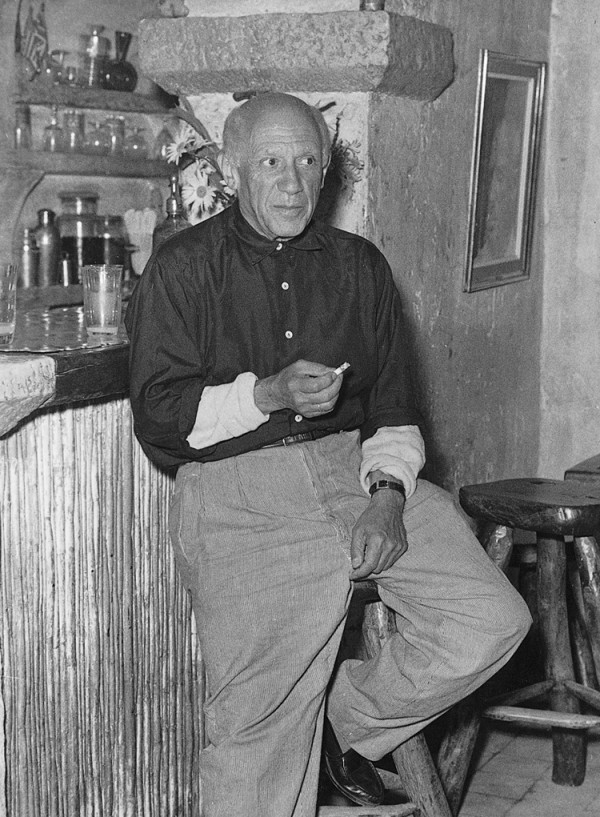 Picasso at La Colombe d'Or in Saint Paul de Vence