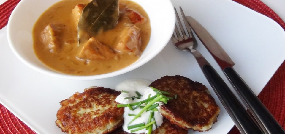 BEST of Belarus food: Machanka with Draniki !