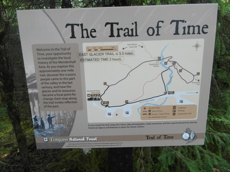 The Trail of Time for Mendenhall Glacier - near Juneau Alaska
