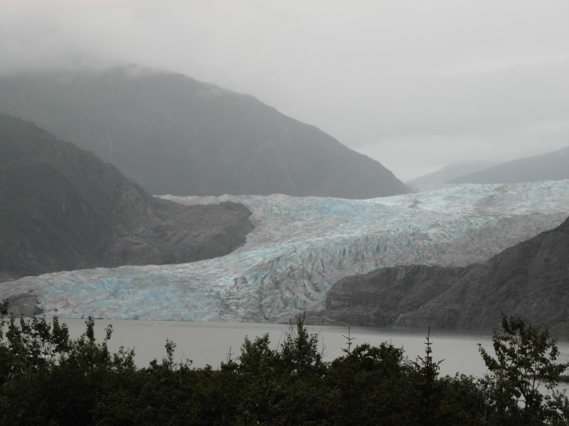 Mendenhall Glacier in Tongass National Park near Juneau, Alaska