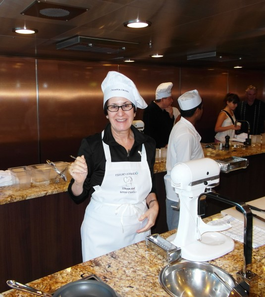Cruising the North Sea aboard the Oceania Marina ~ cooking lesson at the culinary center