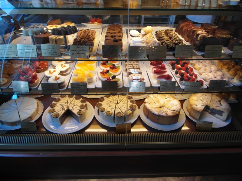 Cafe Savoy in Prague - the pastry display
