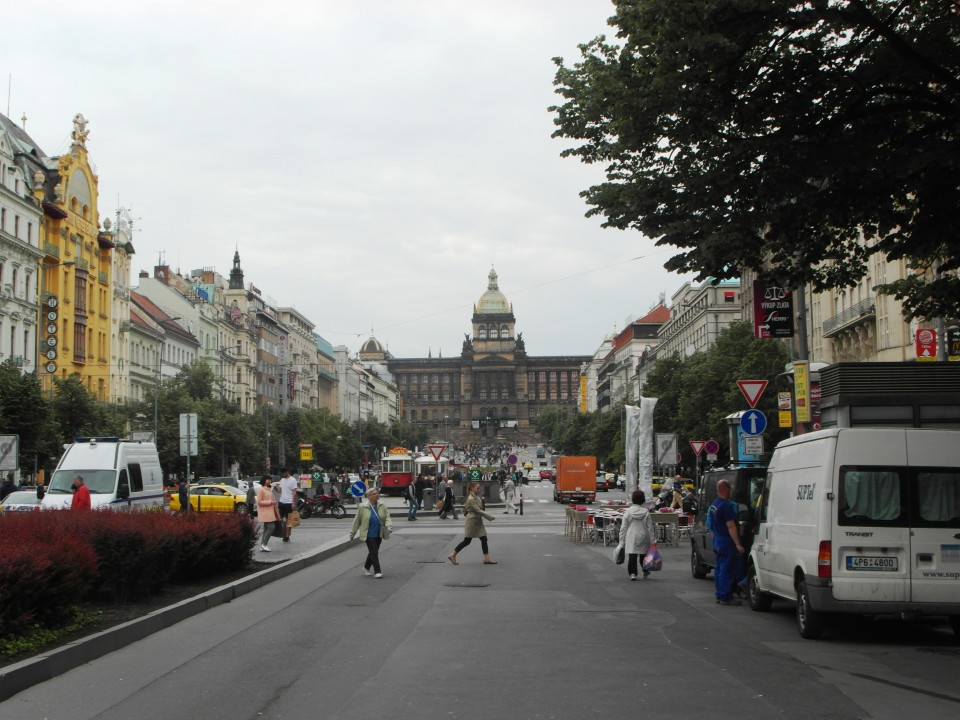 Wenceslas Square in the New Town