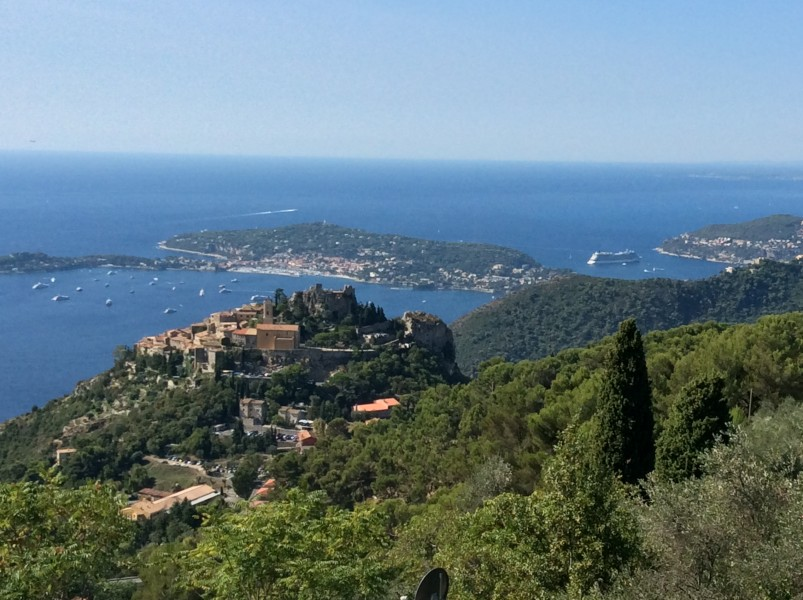 Eze France viewed from La Grande Corniche road