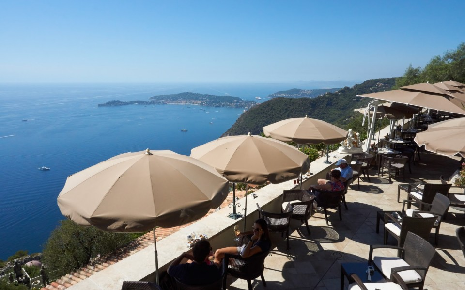 Terrasse at Chateau de la Chevre d'Or in Eze France