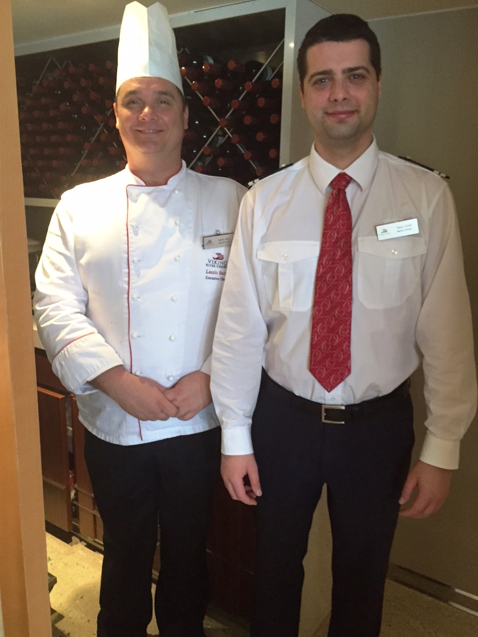 Viking Tor Executive Chef Lazlo and Dining Room Manager Tibor
