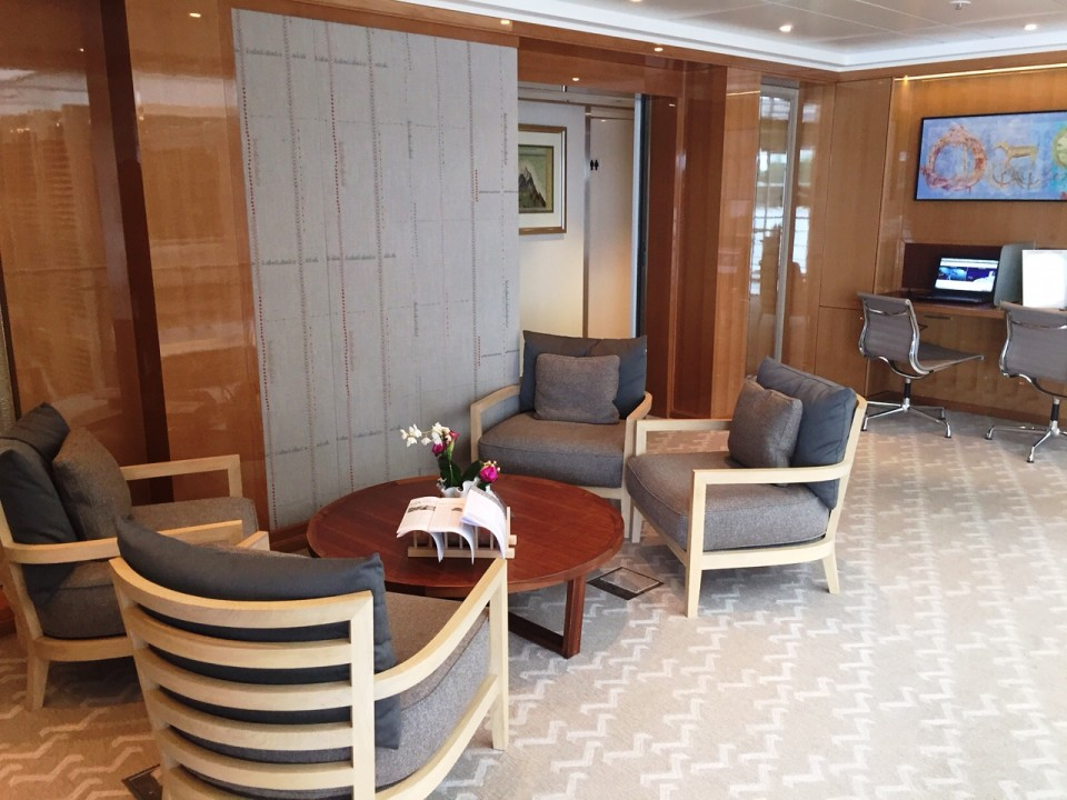 Viking River Cruises - partial view of Viking Tor library and internet area