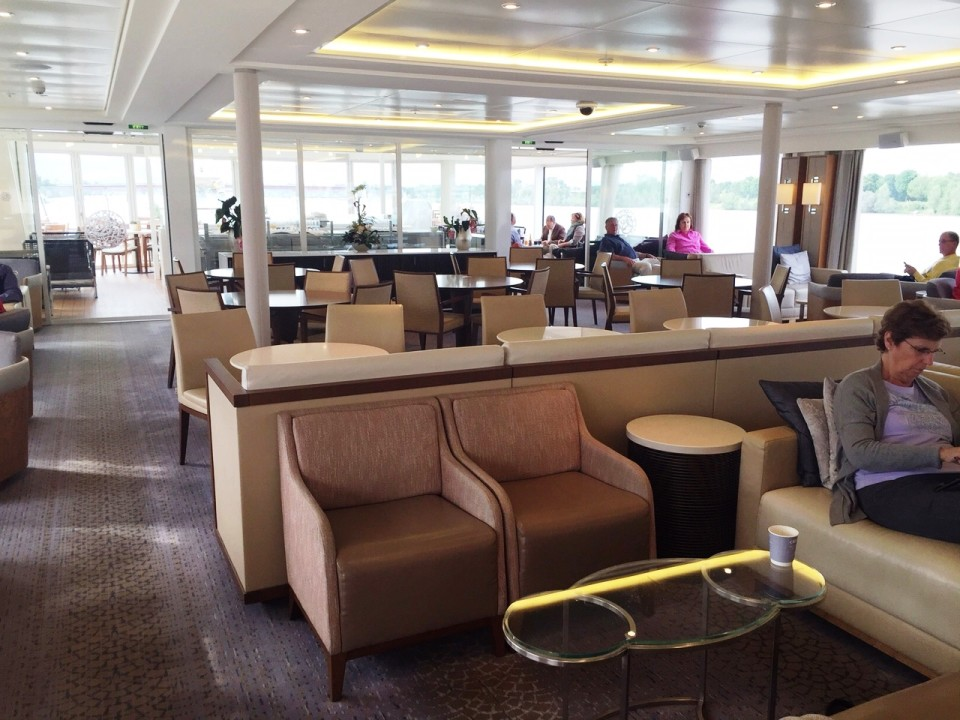 Viking River Cruises - partial view of Viking Tor Main Lounge