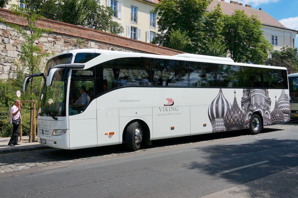 Viking River Cruises - Viking has its own fleet of tour buses