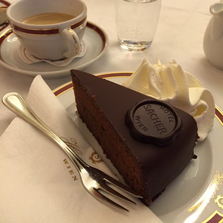 Vienna cafes and coffee houses : Coffee and Sacher Torte at Cafe Sacher