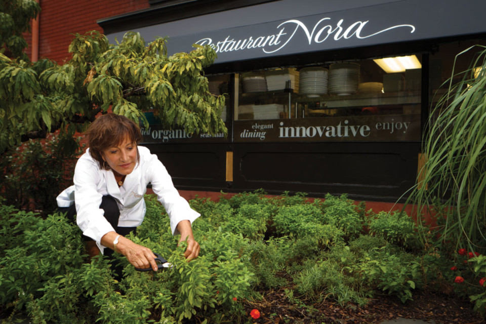 """""""The most important element is organic, seasonal, local food prepared in a flavorful, balanced, healthy way."""" … Nora Pouillon"""
