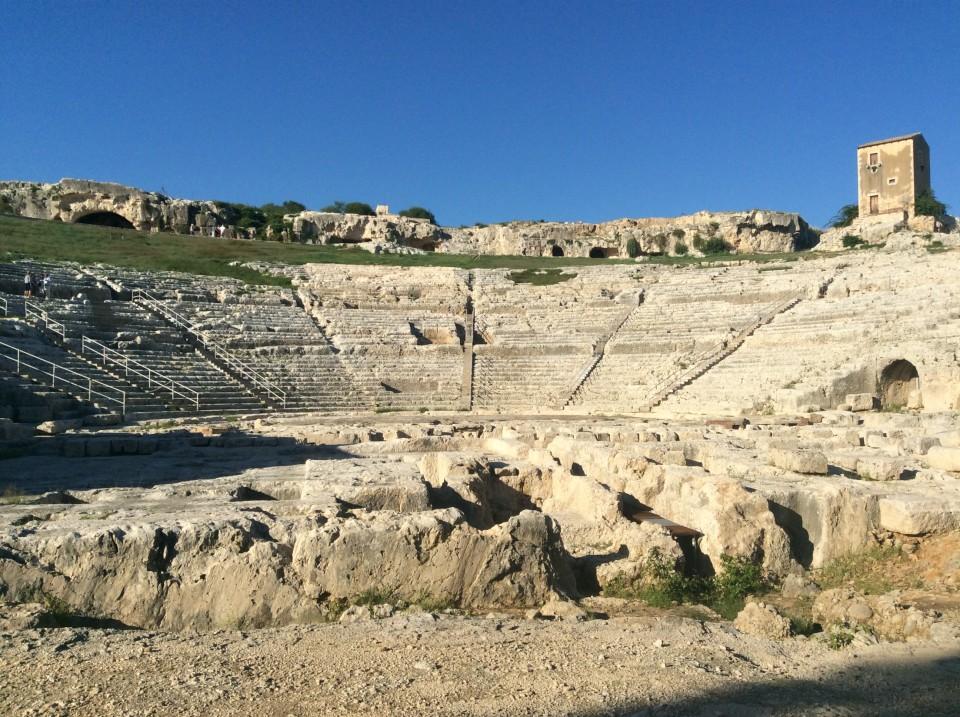 Southeast Sicily : Antique Greek theatre of Neapolis