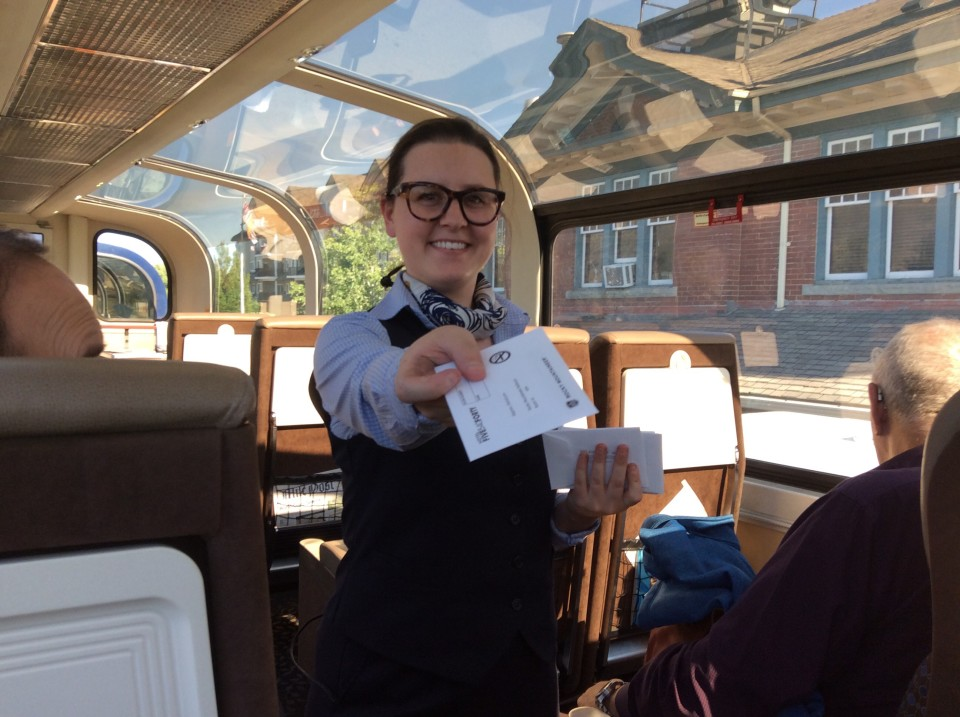 Rocky Mountaineer: Hotel room keys delivered while still aboard train!