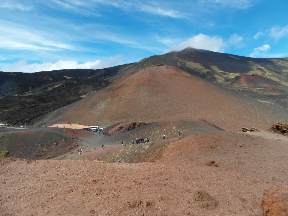 Southeast Sicily : One of the 260 craters of Mount Etna