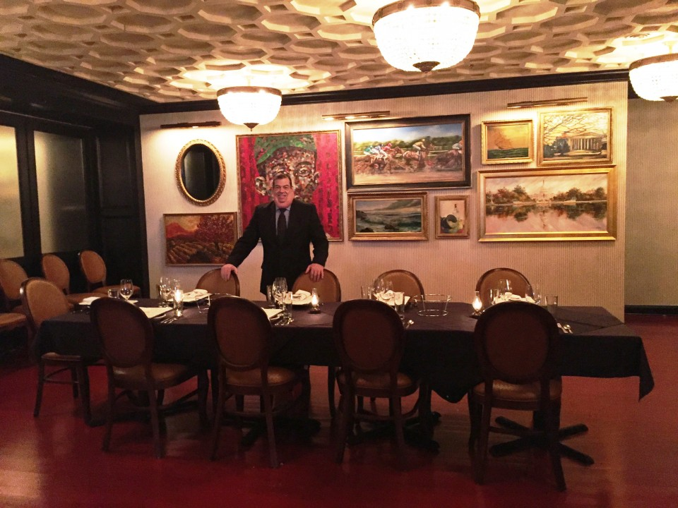 Pennsylvania 6 DC : James Beard award-winning Master Sommelier Marc Slater welcomes guests in one of the private dining rooms