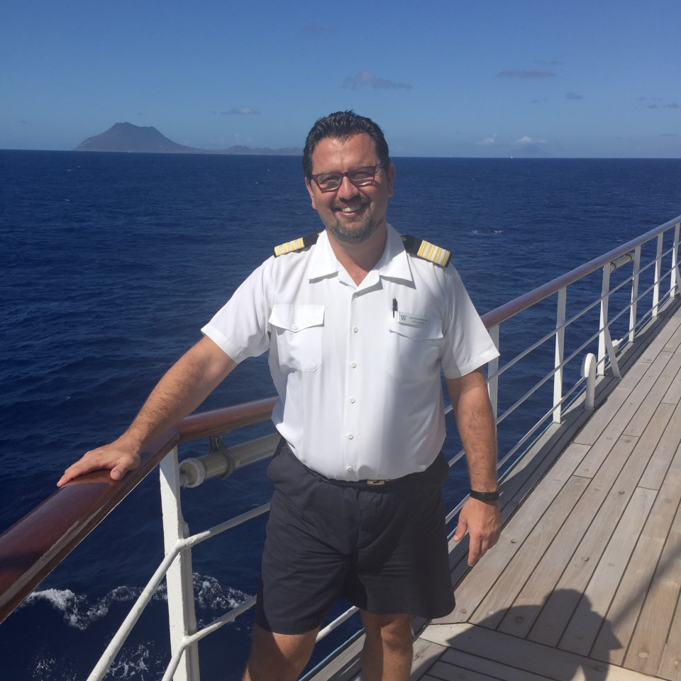 Yacht Cruising the Caribbean in style with Windstar Cruises : Top-notch friendly service overseen by Hotel Manager Christian Streicher
