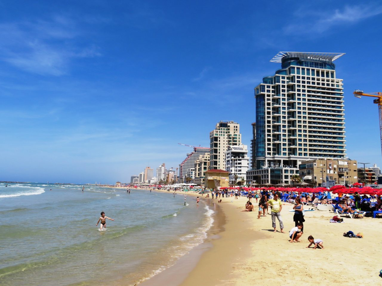 Favorite Israel Vacation Experiences : One of the 16 beaches lining the shores of the city of Tel Aviv