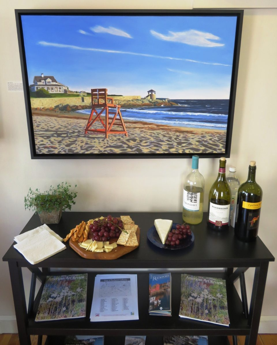 Emerson Inn by the Sea : Wine and Cheese welcome on Friday evenings at art galleries of Rockport @ Night !