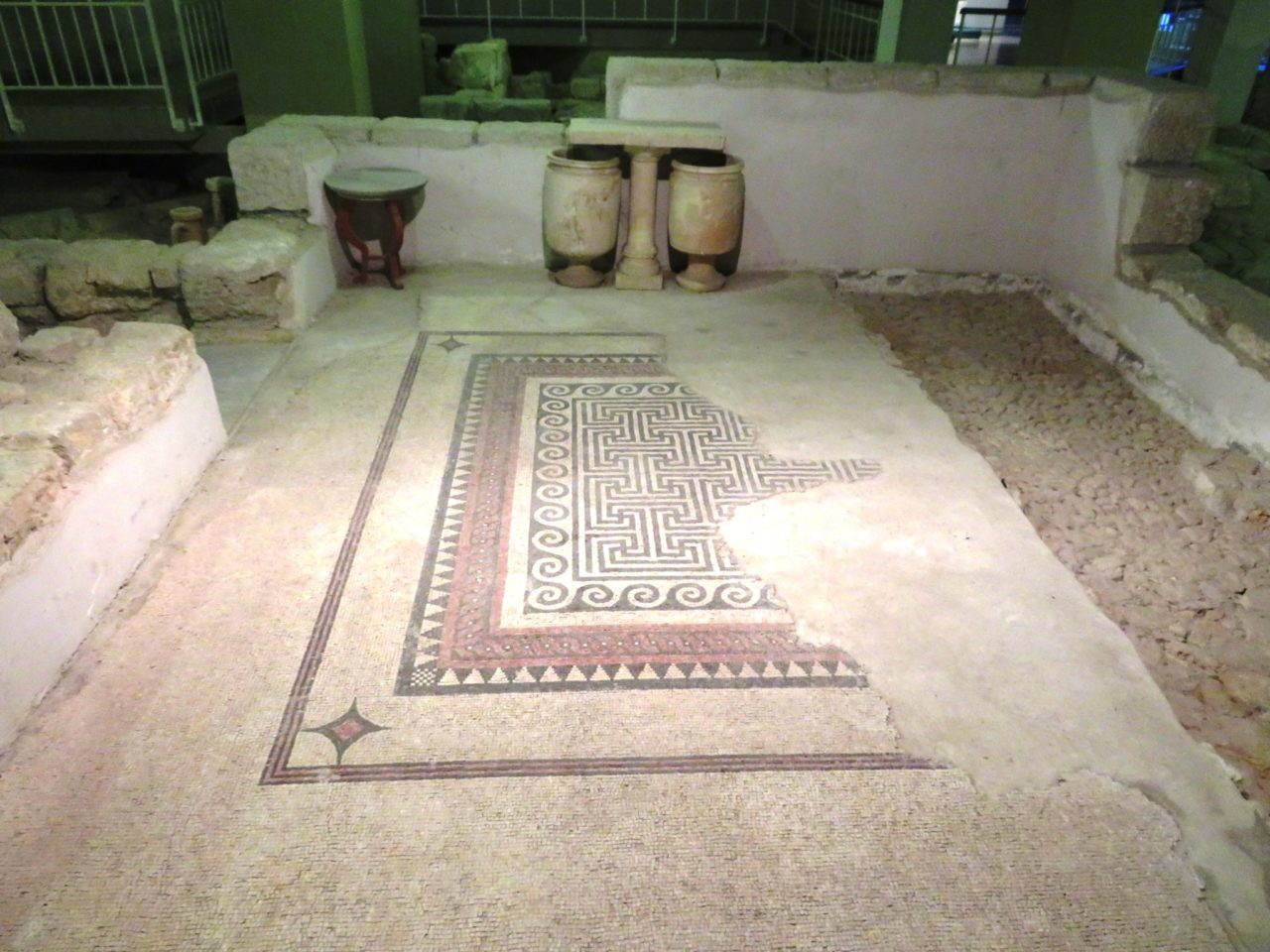 The joys of walking Jerusalem - a Herodian Mansion floor from 2,000 years ago