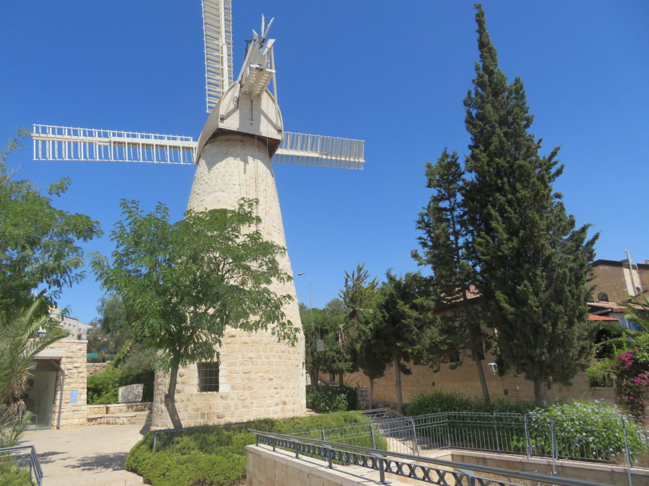 The joys of walking Jerusalem - The windmill in the Yomin Moshe neighborhood