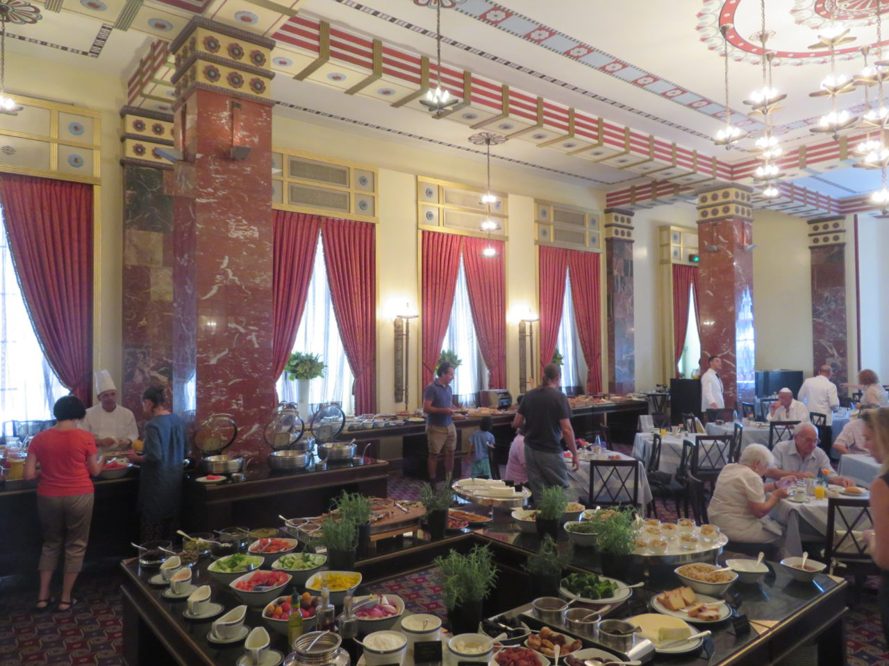 King David Hotel, Jerusalem Israel - Breakfast Buffet in President's Hall