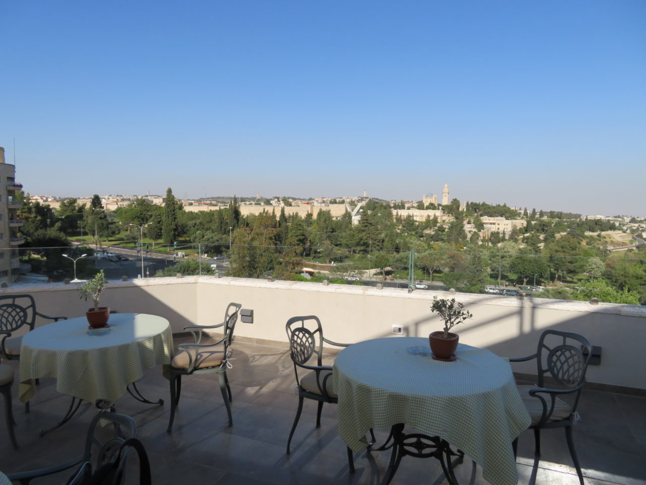 Vacationing in Israel ... View of Old Jerusalem from the Inbal Hotel