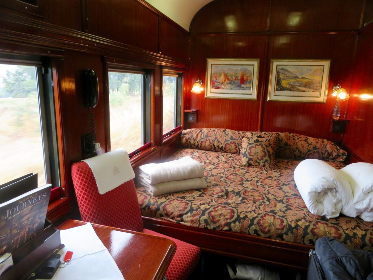 Part of our deluxe suite aboard <strong>Rovos <em>Rail</em></strong>