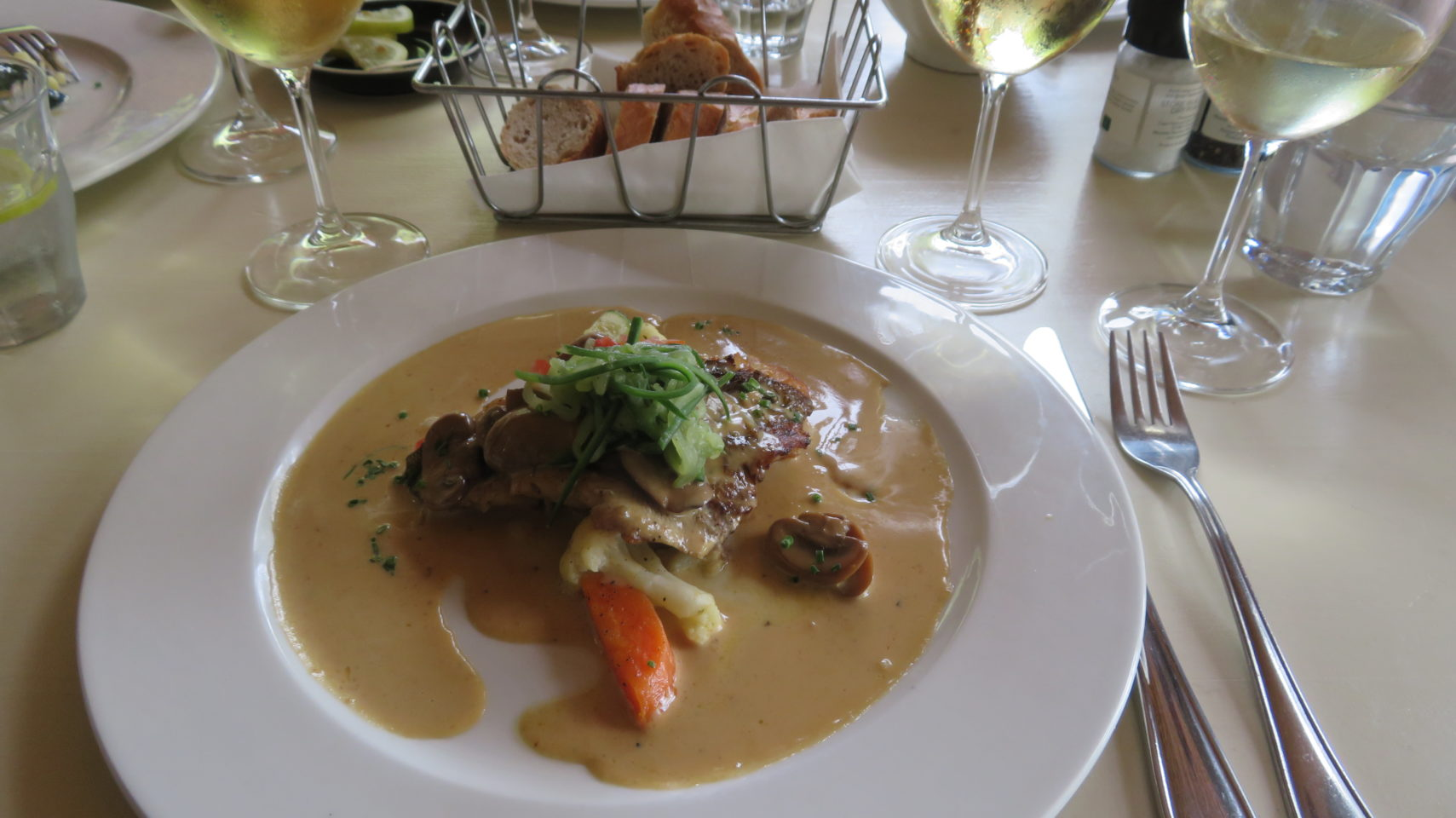 Superb Line Fish dish at Joostenberg Bistro in Stellenbosch, South Africa