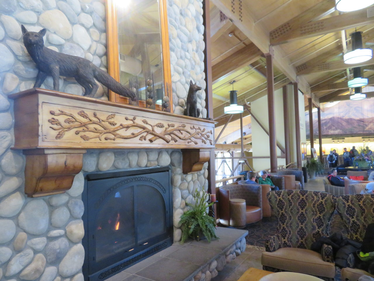 Lobby of the Denali Princess Wilderness Lodge in Alaska
