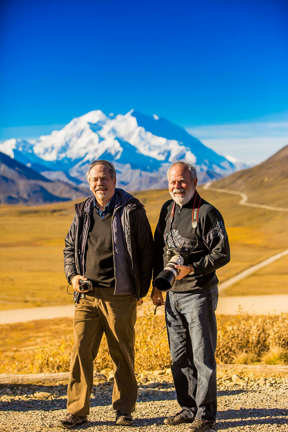"Denis and Louis-Simon in Mount Denali National Park in Alaska (photo by photographer Laura Grier of <a href=""http://www.lauragrier.com/"">LauraGrierTravel</a>)"