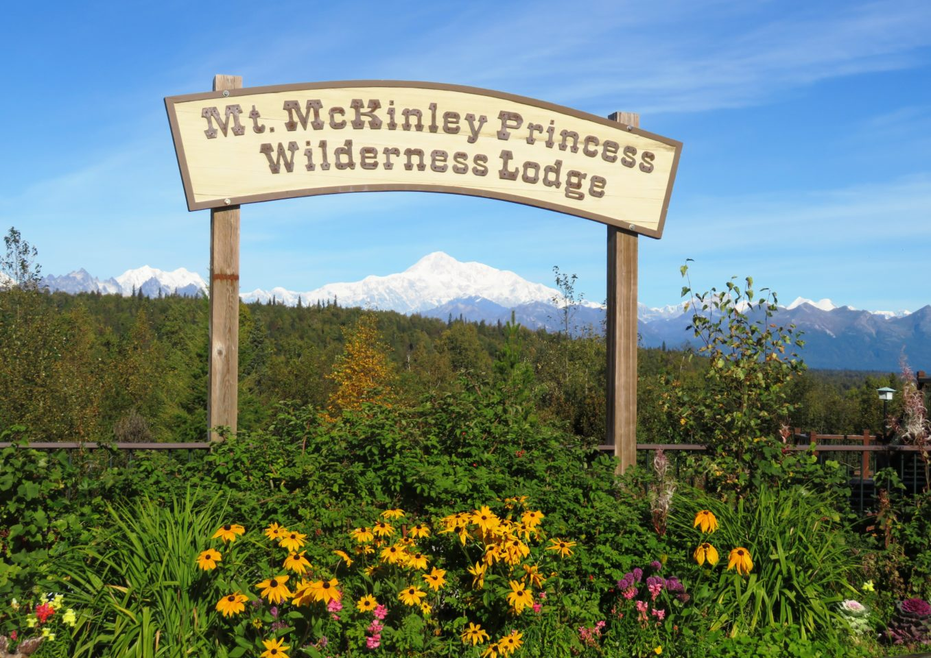 Mount Denali viewed from Mt. McKinley Princess Wilderness Lodge in Alaska