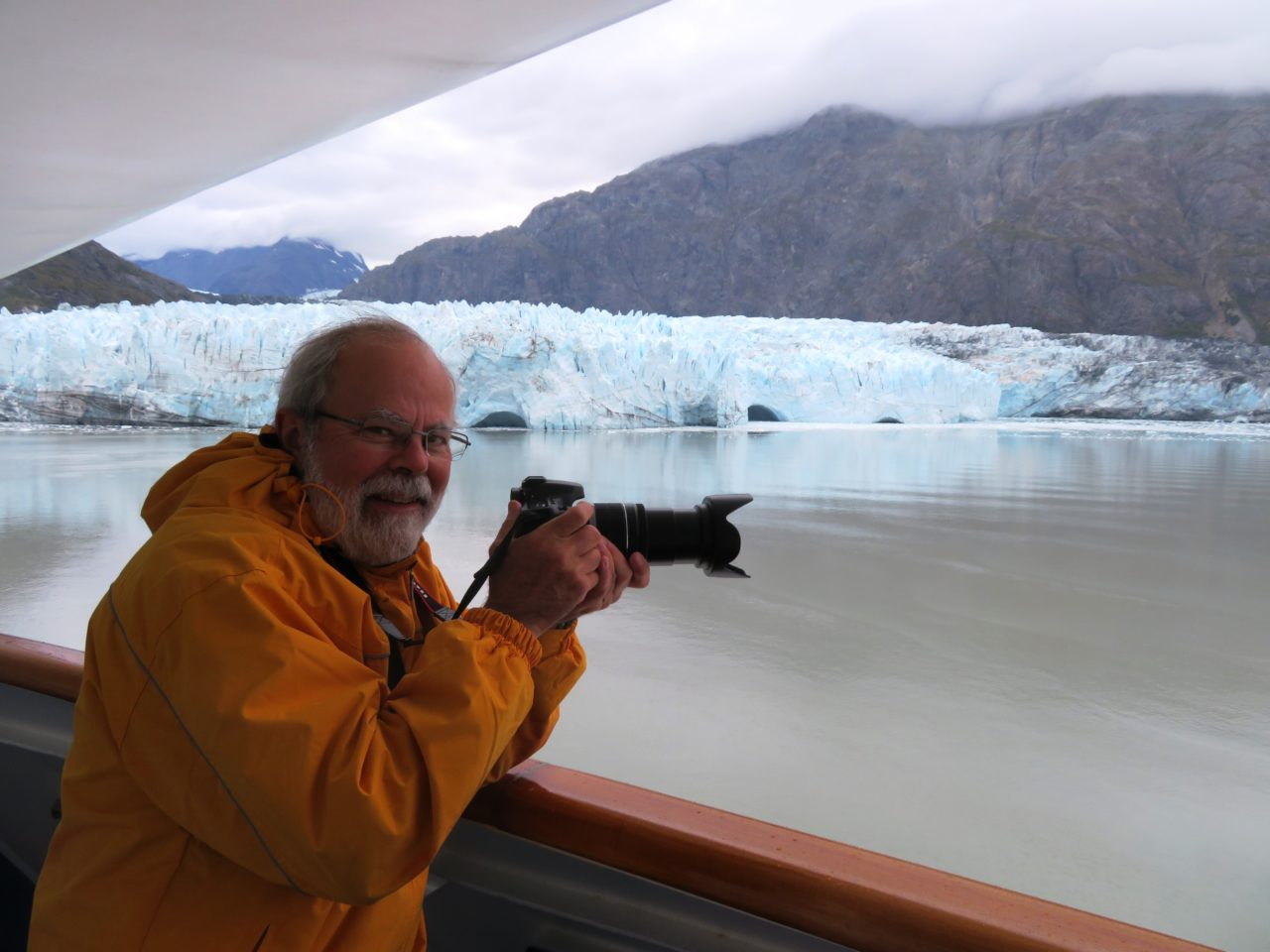Louis-Simon enjoying Glacier Bay during our Alaska Cruise with Princess Cruises