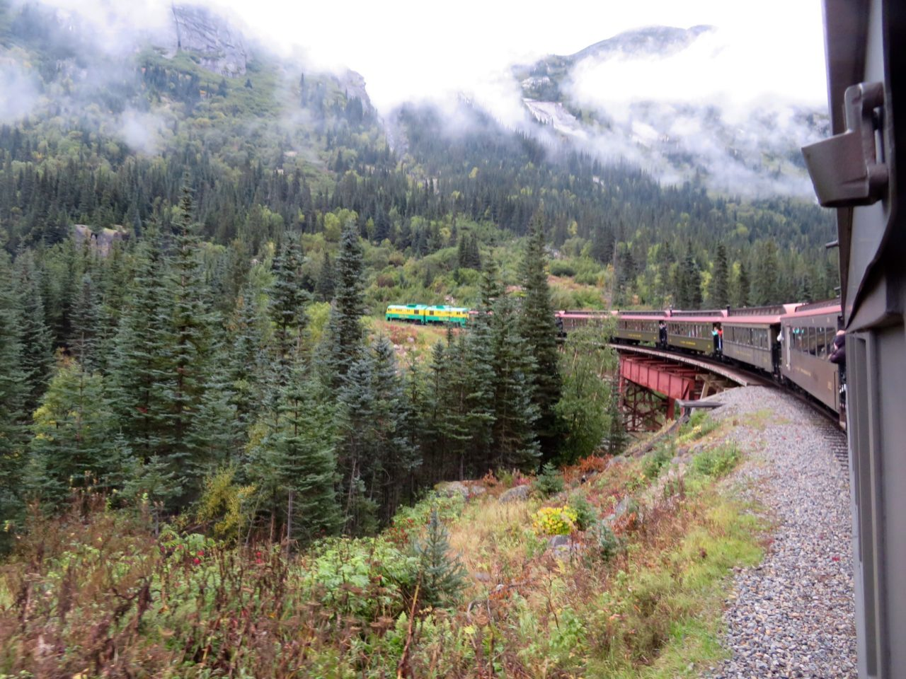 Aboard the scenic White Pass and Yukon Route Railroad during our Alaska Cruise with Princess Cruises