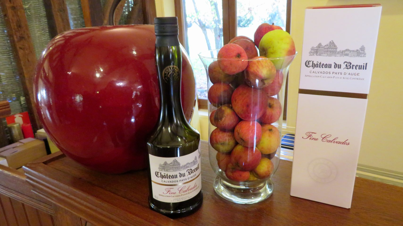 Calvados apple brandy from Chateau du Breuil in Normandie, France (Paris and Normandie AMAWaterways Cruise)