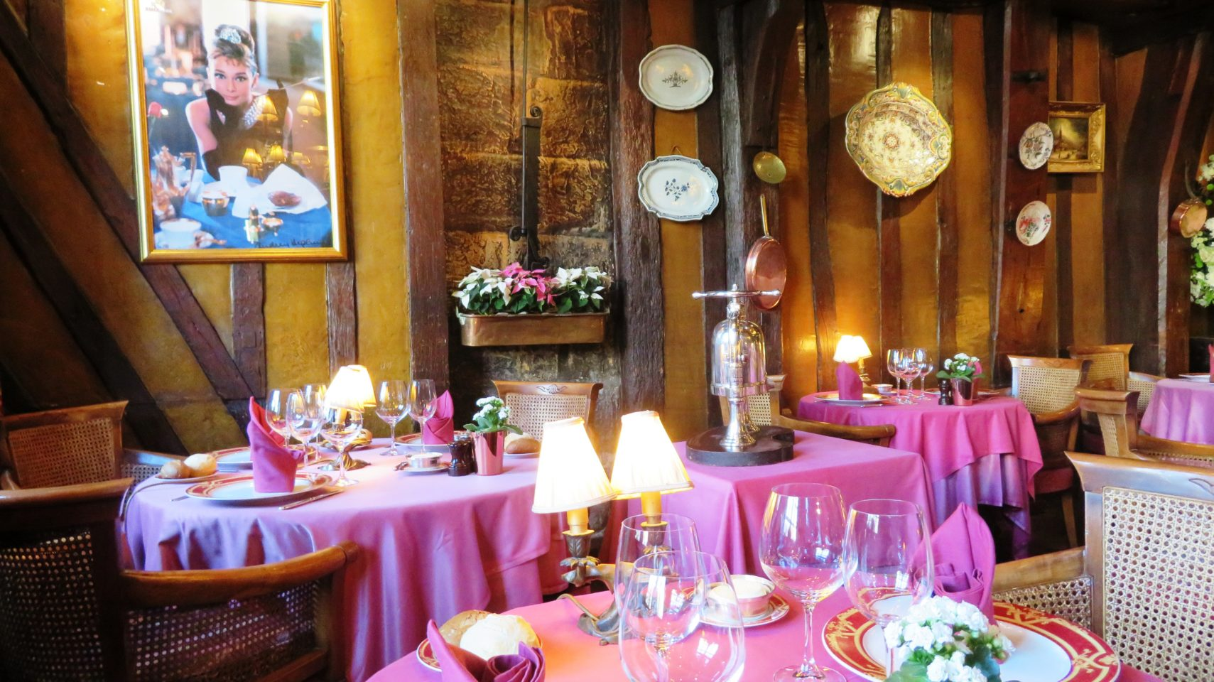 La Couronne restaurant in Rouen, Normandie, France (Paris and Normandie AMAWaterways Cruise)
