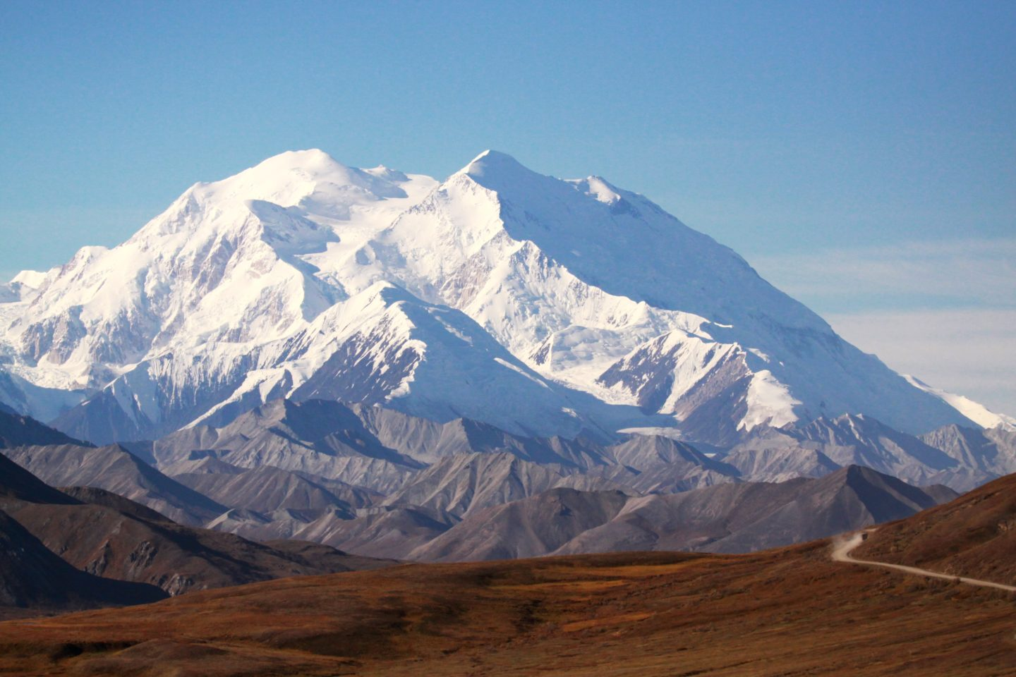 Mount Denali, the tallest mountain in the world and the highest peak in the Americas