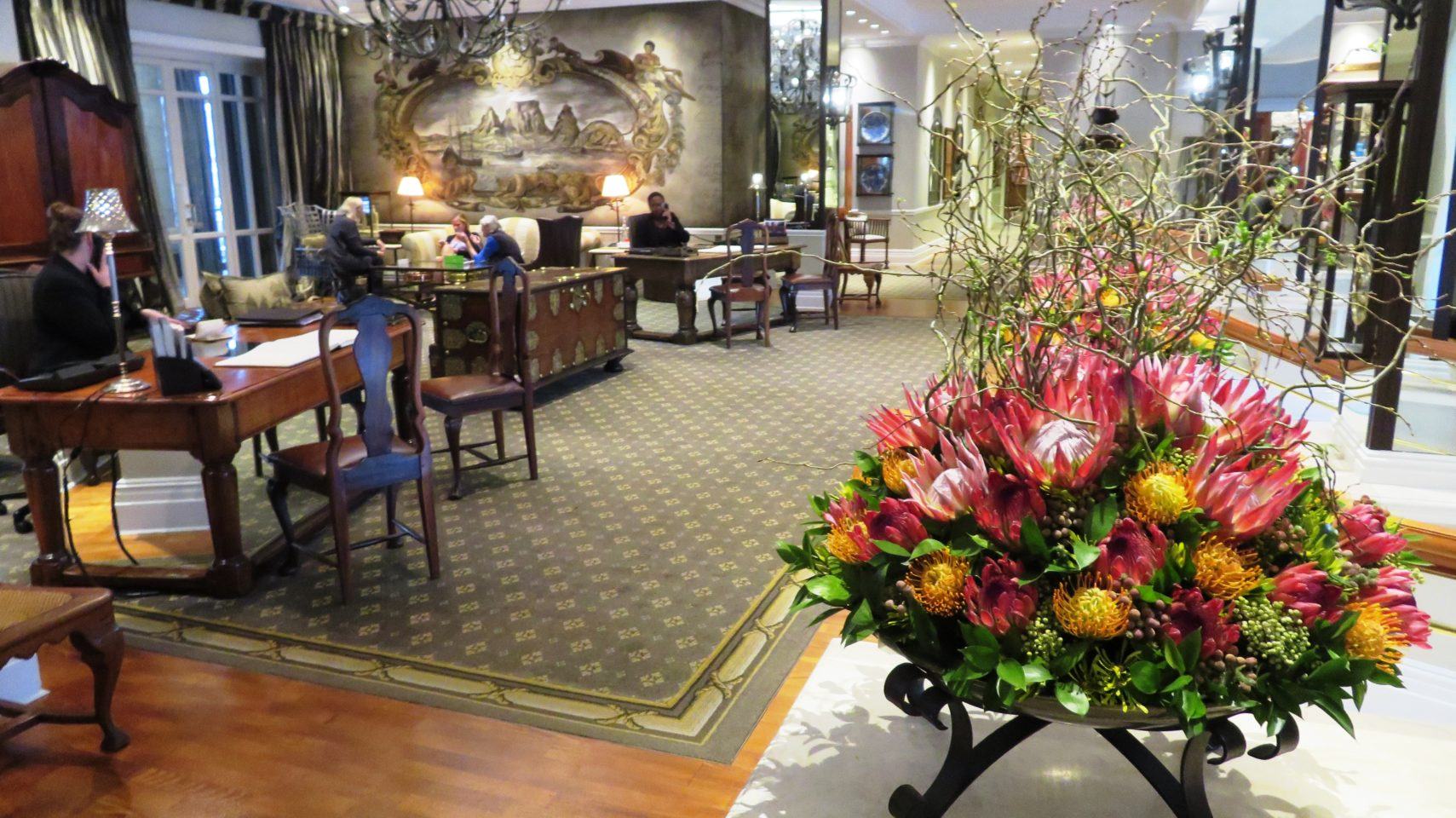 Reception area at Cape Grace Hotel in Cape Town, South Africa