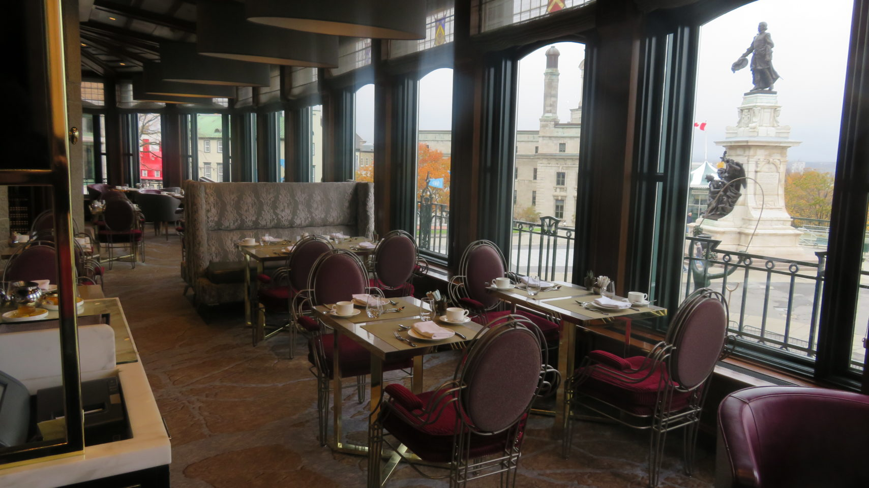 Alcove with a View at the Champlain Restaurant of the Fairmont Le Chateau Frontenac
