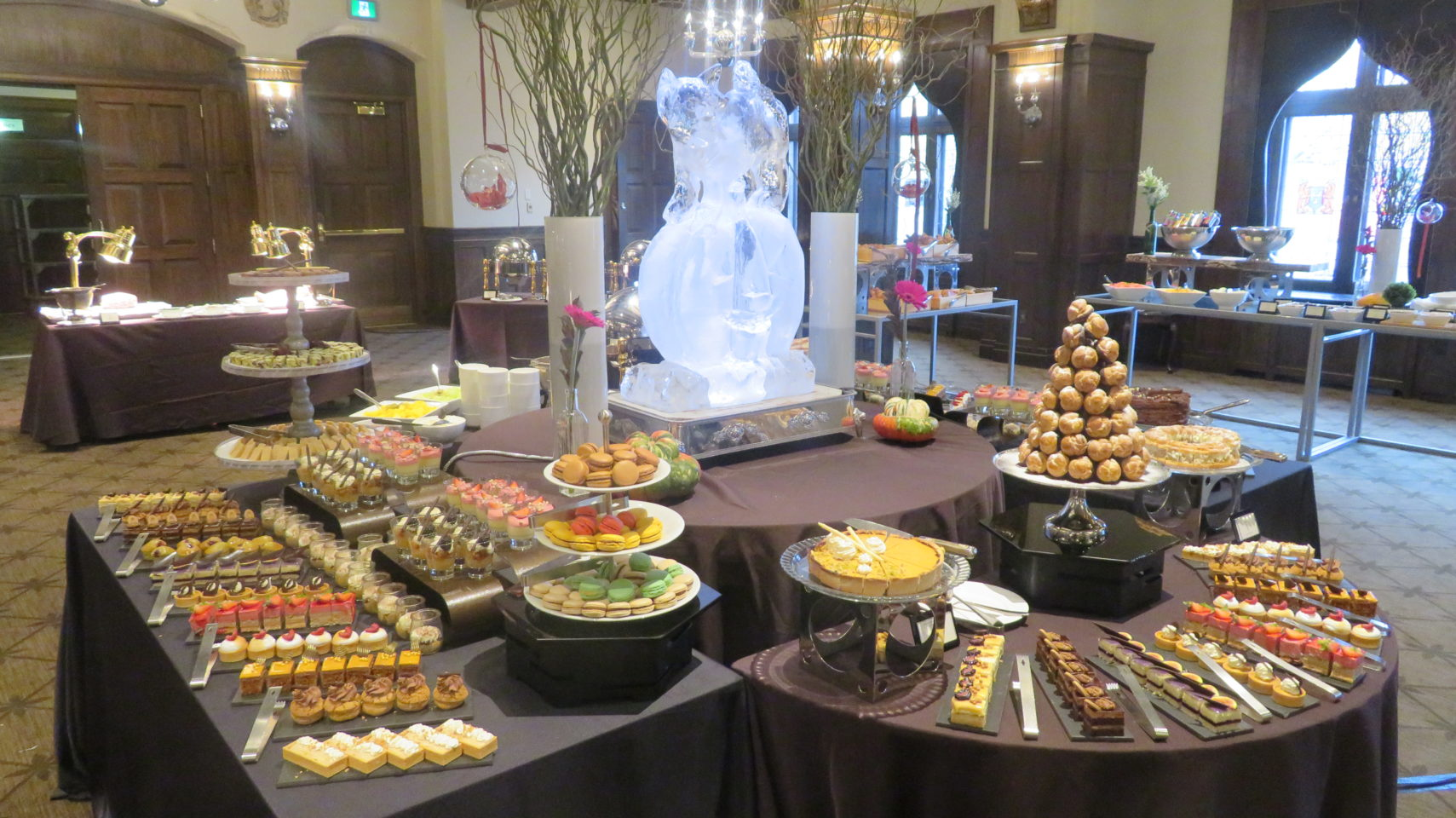 The Dessert Table at the Sunday Brunch of the Fairmont Le Chateau Frontenac