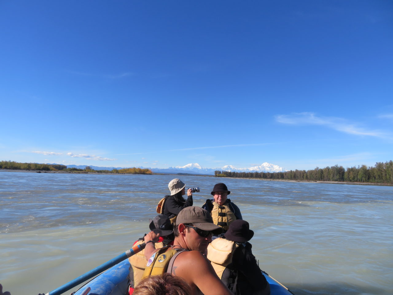 River rafting in the shadow of Denali ~ Alaska Cruise Tour