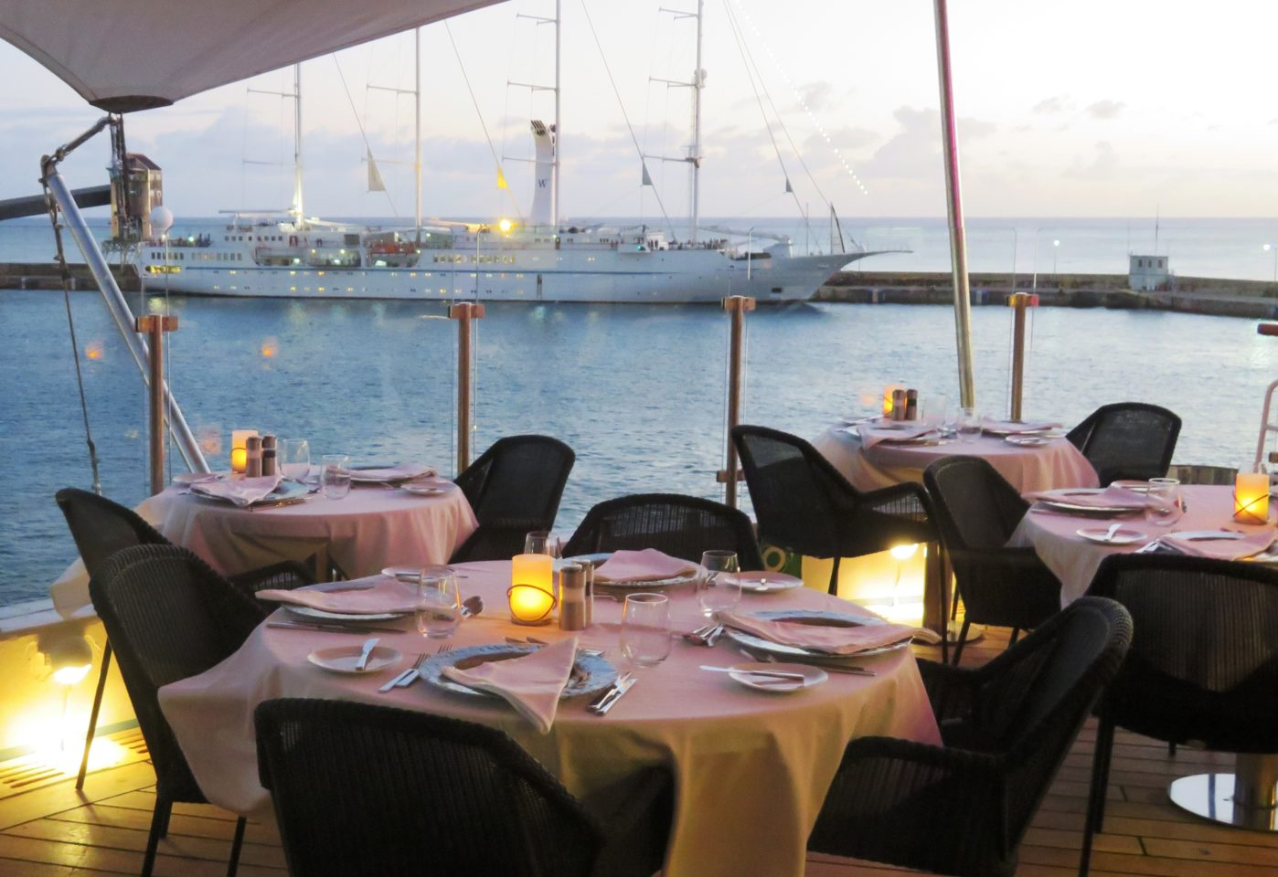 Windstar Cruises ~ Dining Al Fresco at Candles Restaurant