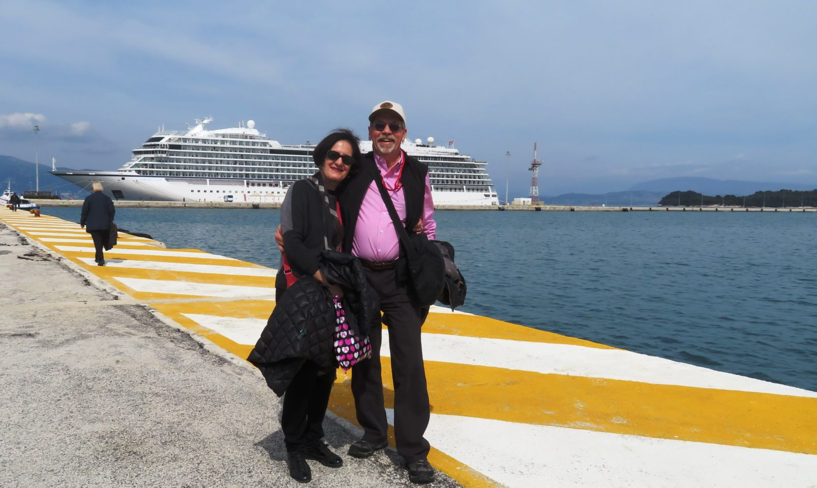 VIKING OCEAN CRUISES ~ Denis and Lynn in Corfu, Greece