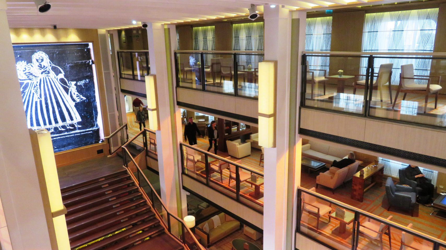 <em><strong>Viking Ocean Cruise Ships ~</strong> </em> Mumch Moment in the atrium of the <em><strong>Viking Star</strong></em>