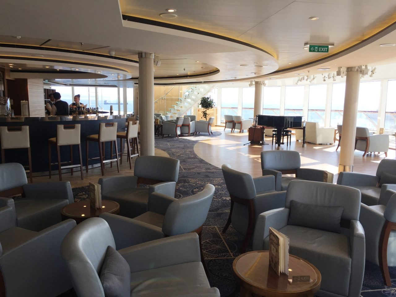 <em><strong>Viking Ocean Cruise Ships ~</strong> </em> Explorer's Lounge on the <em><strong>Viking Star</strong></em>