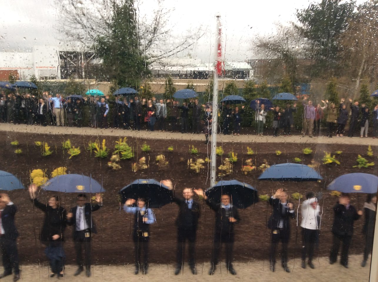 Incredible ! Rain or shine, employees of Rocky Mountaineer line up to wave off every train departure for the Trip of a Lifetime ...