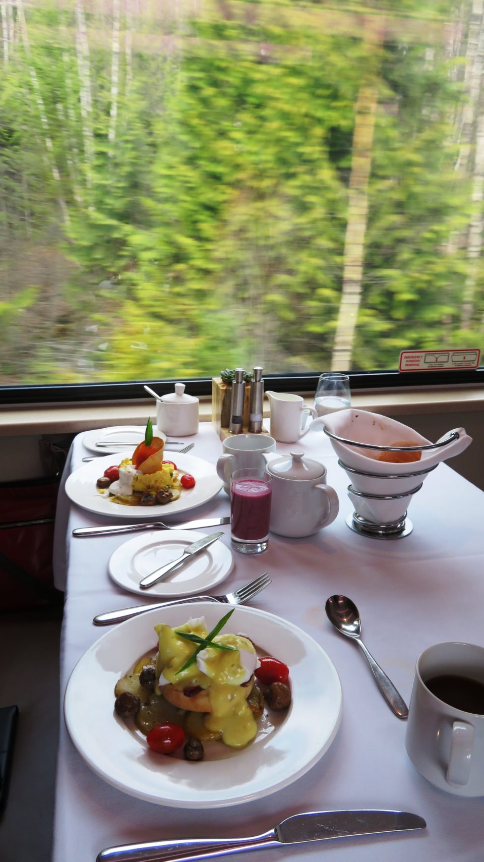 Breakfast aboard Rocky Mountaineer is a perfect fit for the Trip of a Lifetime ...