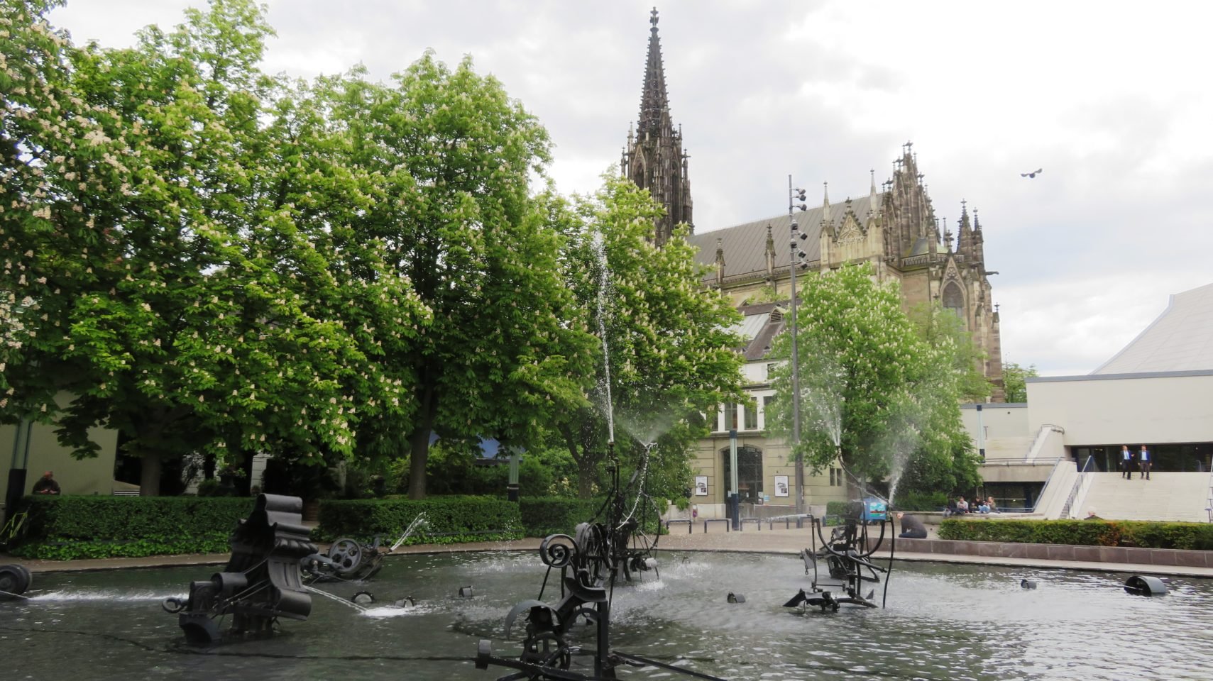 The Tinguely Carnival Fountain in TheaterPlatz in <em><strong>Basel</strong></em>, Switzerland