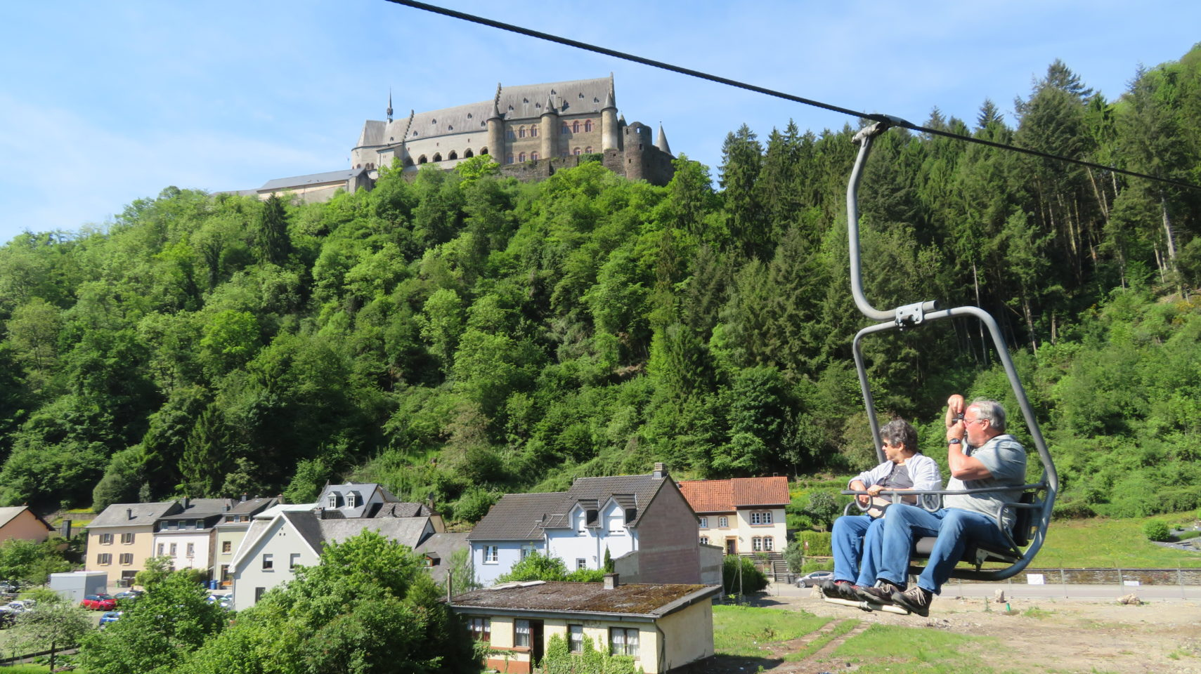 Chair Lift and Vianden Castle in Vianden, <em><strong>Luxembourg</strong></em>