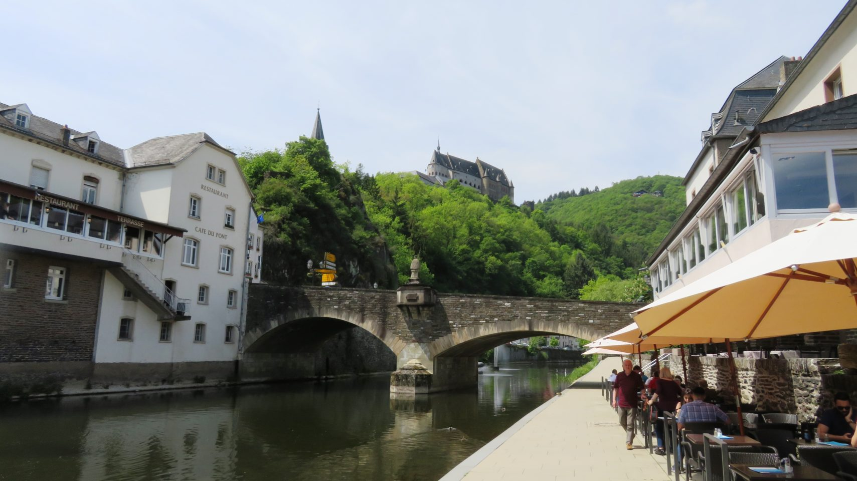 Auberge de l'Our and Our River in Vianden, <em><strong>Luxembourg</strong></em>