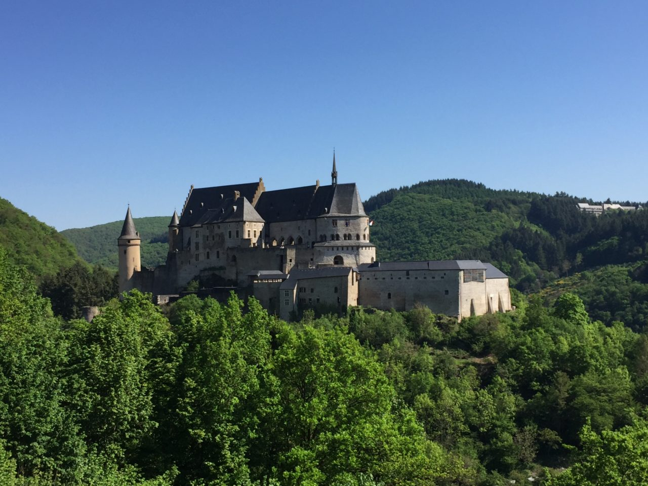 Castle of Vianden in Vianden, <em><strong>Luxembourg</strong></em>
